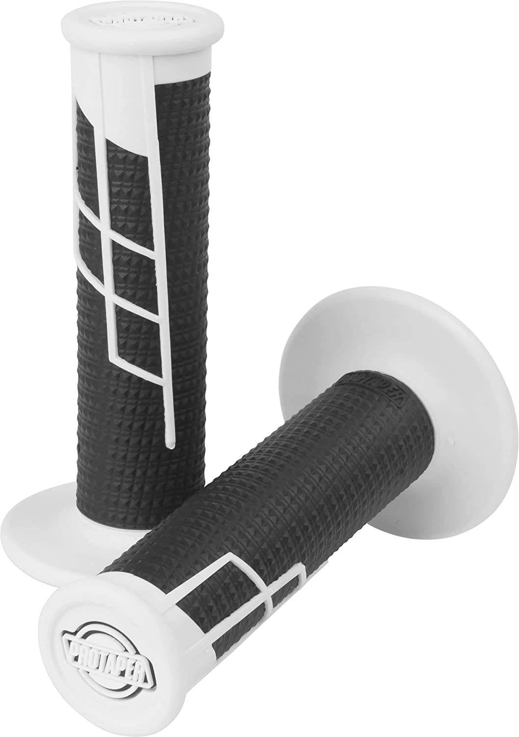 Clamp-On Half Waffle Grip Black w//White 2T /& 4T Pro Taper
