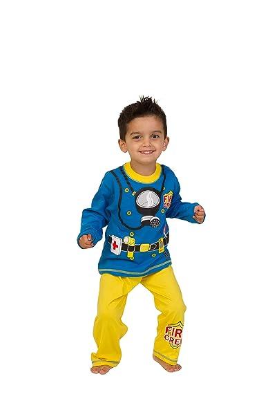 E instrucciones para hacer vestidos Boys ThePyjama diseño de fábrica de Fancy a Fireman hombre 2