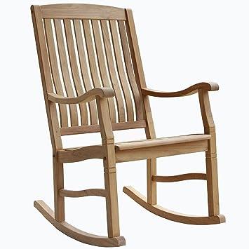 High Quality Indonesian Teak Outdoor Porch Garden Rocking Rocker Chair