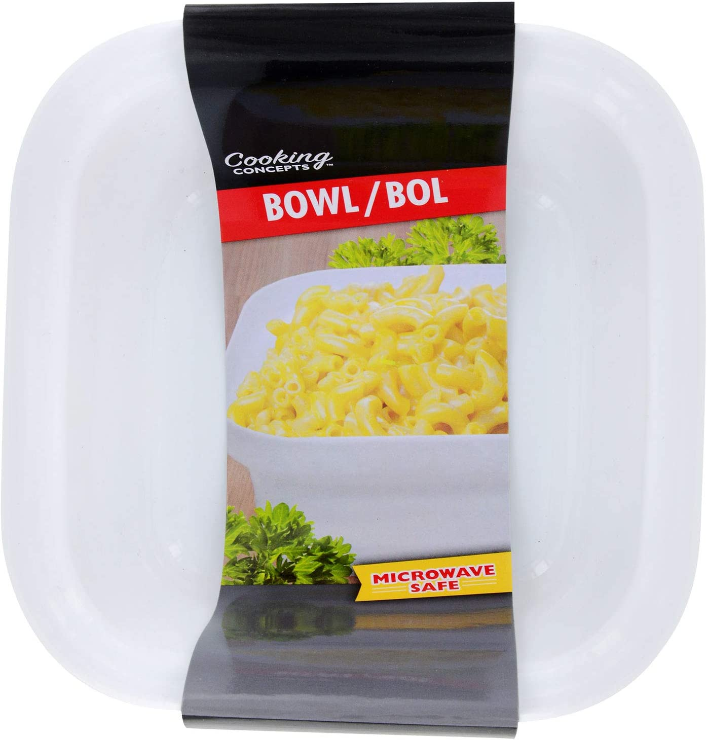Cooking Concepts Super Sized Square Microwavable Bowl, 6.5 in. Holds Two Batches of Ramen Noodles Plenty Of Room To Heat And Mix With Out A Mess