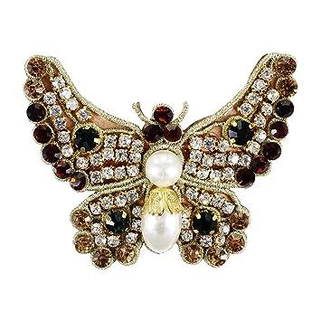2 Stück Vögel bestickt Patches annähen Applique Pailletten Perlen