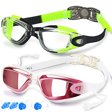 Gafas de Natación de COOLOO, Anti-Niebla Protección UV Ajustable, Para Adulto Hombre