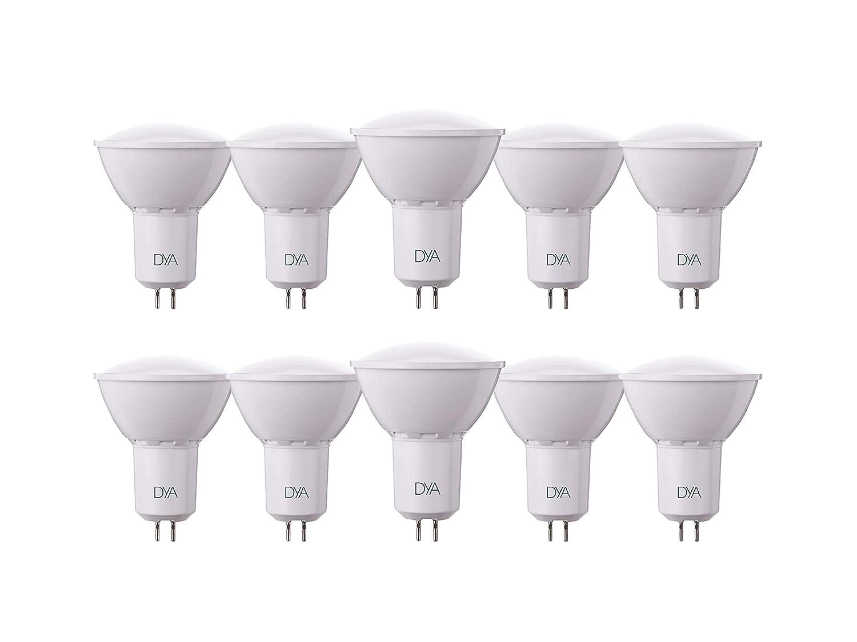 Lot de 10ampoules lED spotlight GU5.3Dya Ø50x 63, 6W 540lumens, blanc chaud 3000K ° 6W 540lumens blanc chaud 3000K °