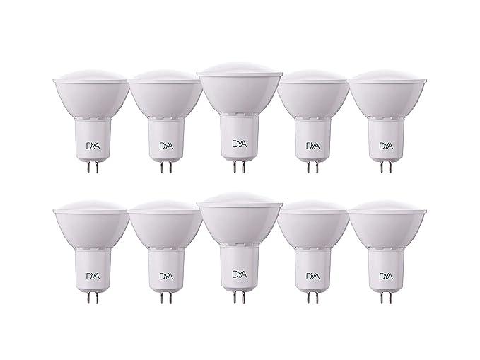 DYA - Juego de 10 bombillas LED tipo foco (spotlight) GU 5,3