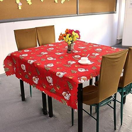 Primi 1pc Navidad manteles manteles mesa de comedor Linens decoración adorno de fiesta rojo: Amazon.es: Hogar