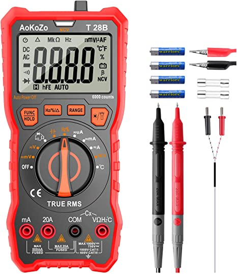 Digital Multimeter Messgerät Aokozo 6000 Counts Auto Range Multimeter True Rms Baumarkt