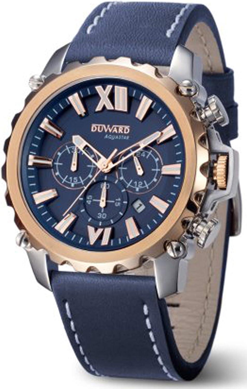Duward aquastar Nice Reloj para Hombre Analógico de Automático japonés con Brazalete de Piel de Vaca D85516.05