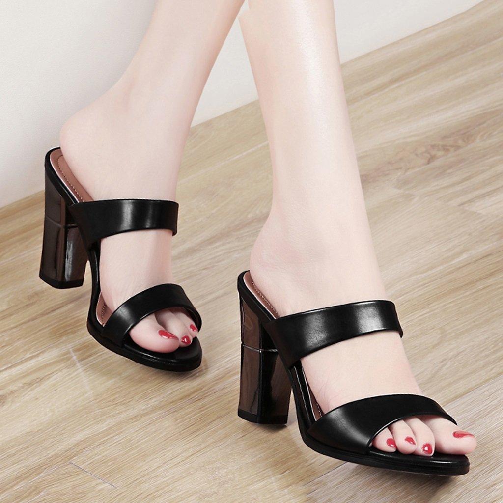 Scarpe donna HWF Pantofole Donna Estate Sandali Tacco Alto Alto Alto (colore   Nero, Dimensioni   35) e640fd