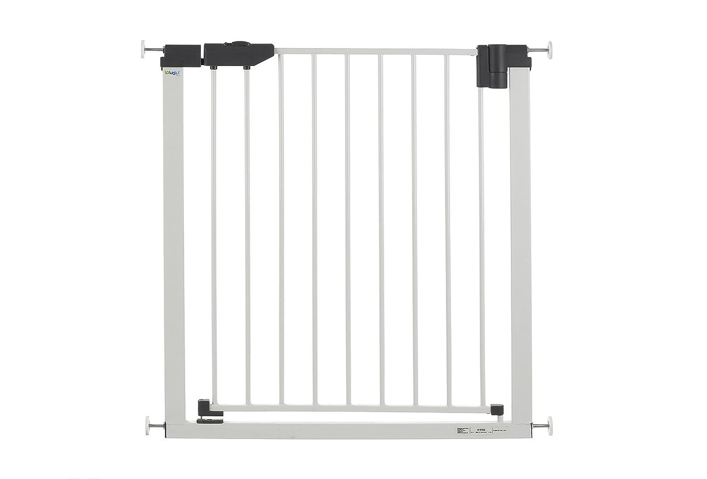 Barri/ère de porte easylock light m/étal blanc//argent/é 74-83 cm GEUTHER