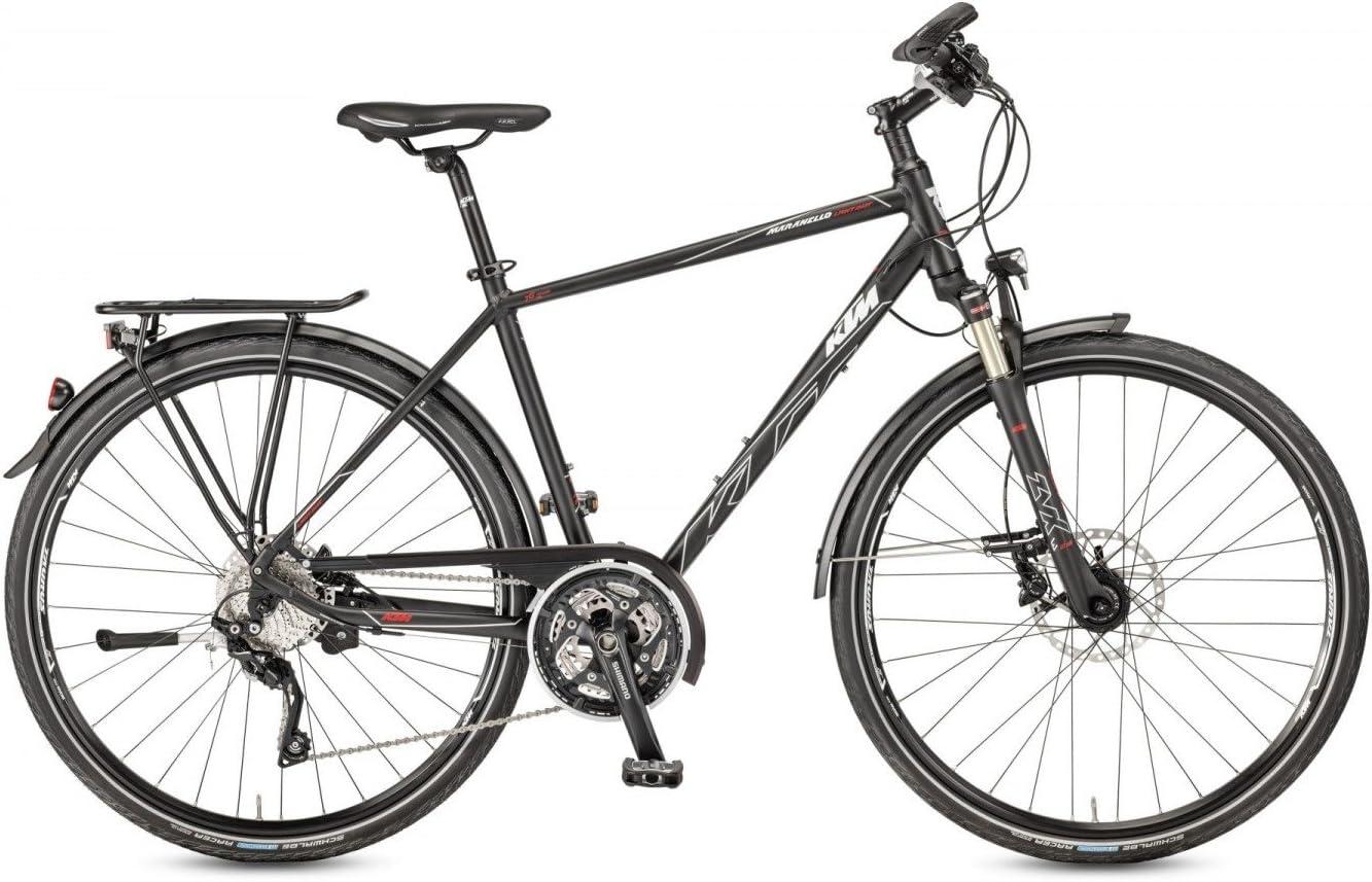 KTM Hombre Bicicleta 28 pulgadas Trekking Negro Maranello Light ...