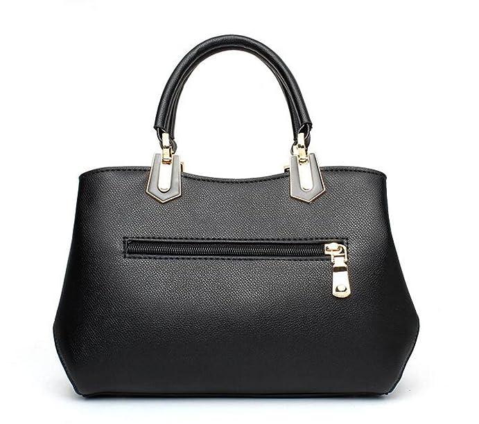 Pu Reine Farbe Schnalle Weiblichen Tasche Mode Schulter Messenger Bag Kleine Tasche Handtasche,Pink-OneSize GKKXUE