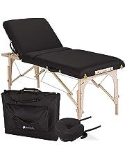 """EARTHLITE Portable Massage Table Package AVALON TILT – Reiki Endplate, Premium Flex-Rest Face Cradle & Strata Cushion, Carry Case (30""""x73"""")"""