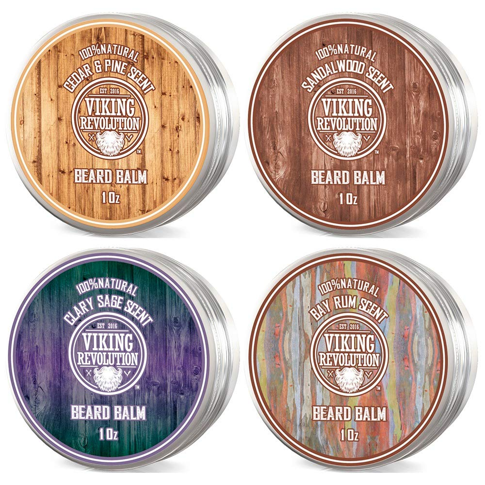 Viking Revolution 4 Beard Balm Variety Pack (1oz Each)