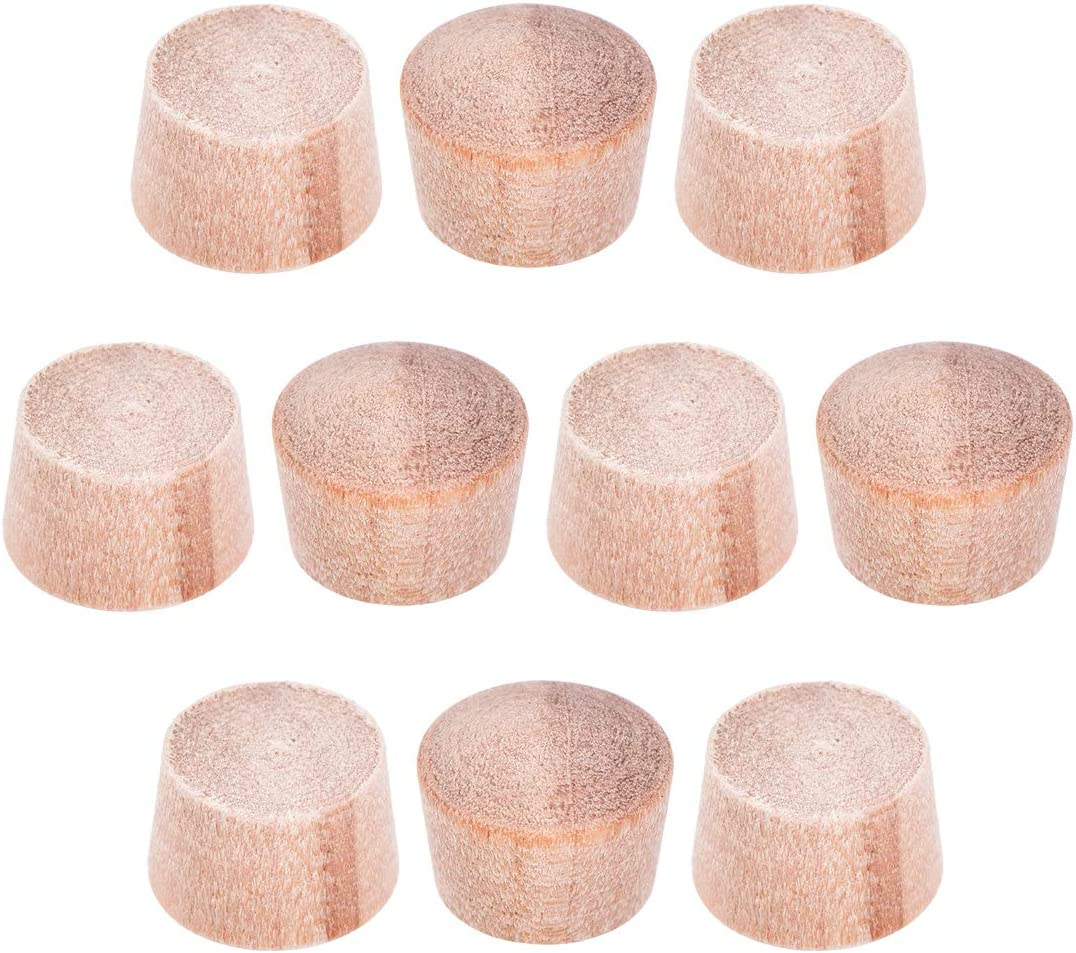 uxcell Wood Button Top Plugs 9/25 Inch Cherry Hardwood Furniture Plugs 5/16 Inch Height 50 Pcs