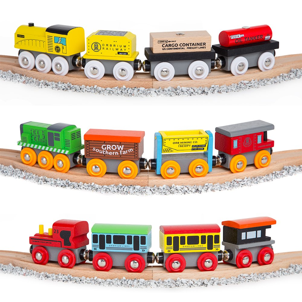 Wooden Engines & Train Cars Collection Image