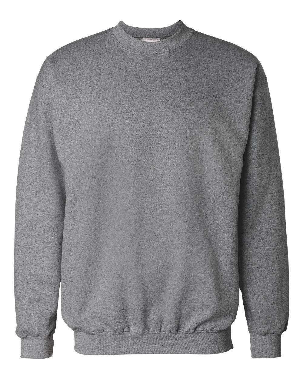 Hanes Men's Ultimate Cotton Fleece Crew Sweater, Oxford Gray, 2XL US by Hanes