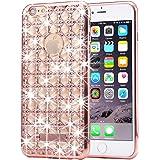 KrygerShield® iPhone 6S Plus, 6 Plus Diamond Case, Luxury Lightweight Super Skinny Agate Back Cover – Rose Gold