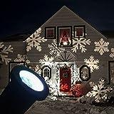 GESIMEI All'aperto GUIDATO Proiettore Lampada Natale Albero Giardino Terrazza Casa Arredamento Fiocco di neve Paesaggio Luci di Inondazione Bianco