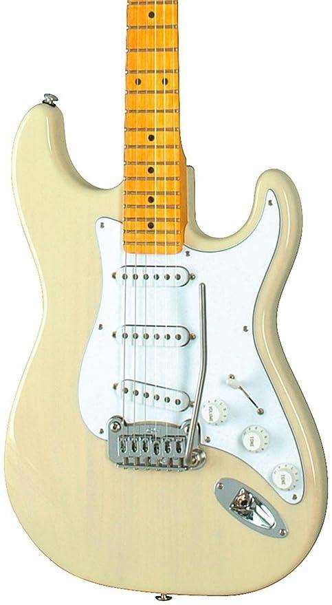 G & L legado guitarra eléctrica con Tinted arce Cuello Rubio
