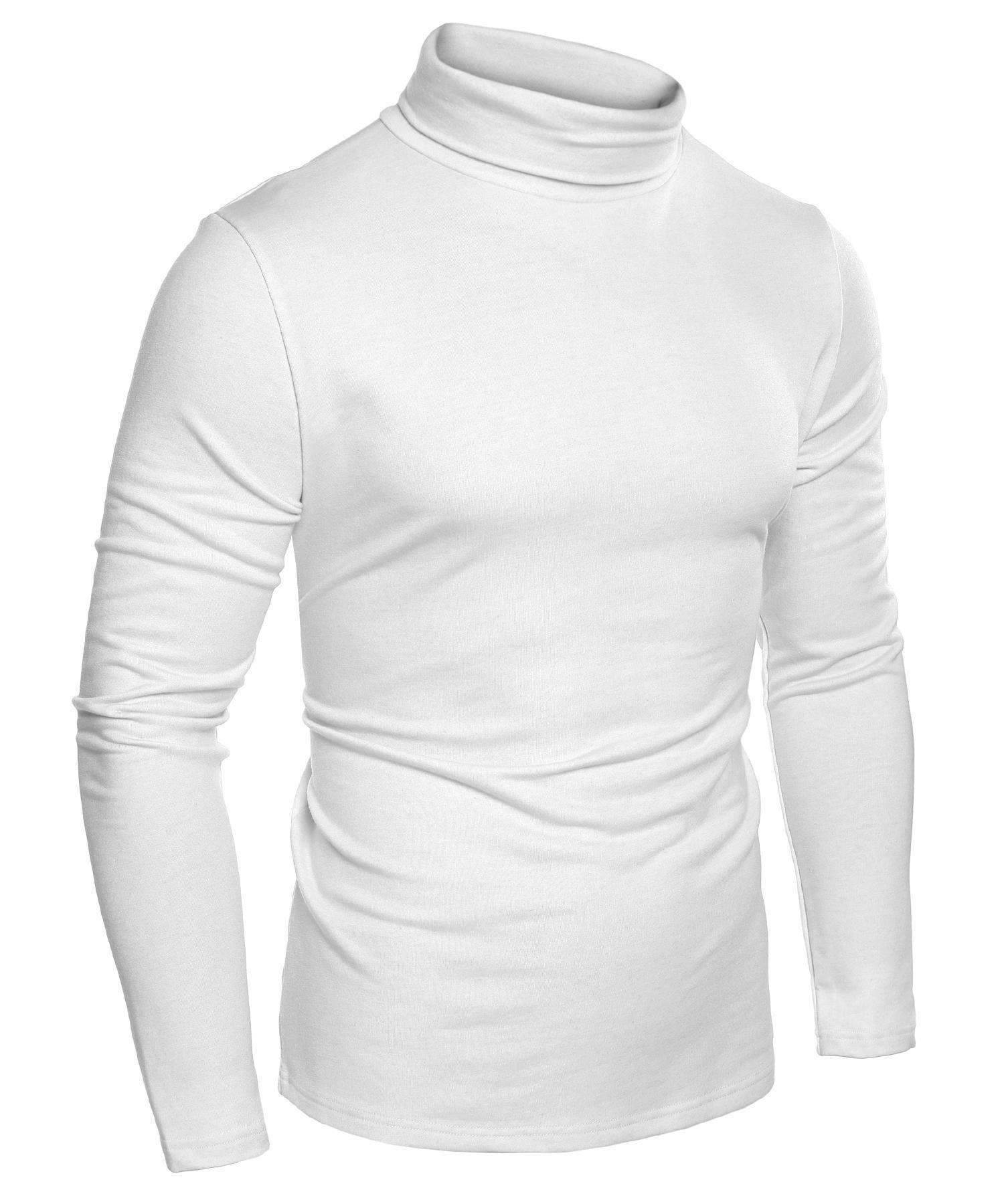 JINIDU Mens Casual Basic Slim Fit Pullover Thermal Sweaters