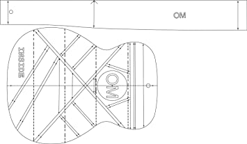om acoustic guitar layout template guitar building amazon co uk