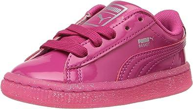 PUMA Kids Womens Basket Patent Iced