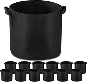 Garden4Ever 12-Pack 20 Gallon Grow Bags Heavy Duty Container Thickened Nonwoven Fabric Plant Pots with Handles