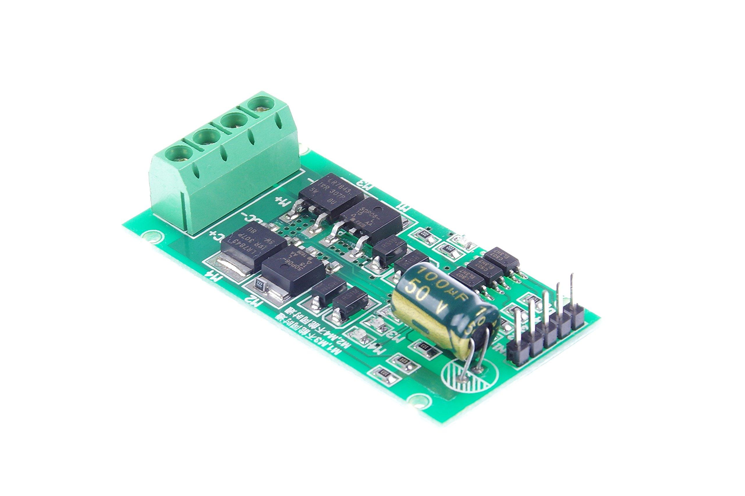 KNACRO DC Motor Driver Module H Bridge FWD/REV/PWM DC 5V 12V 24V (5V-27V)
