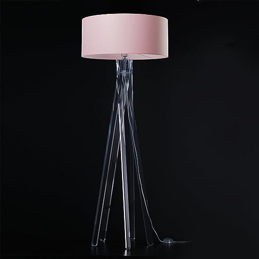 Cadena de Diseño pie TRIPOD con pantalla de tela en color rosa y ...