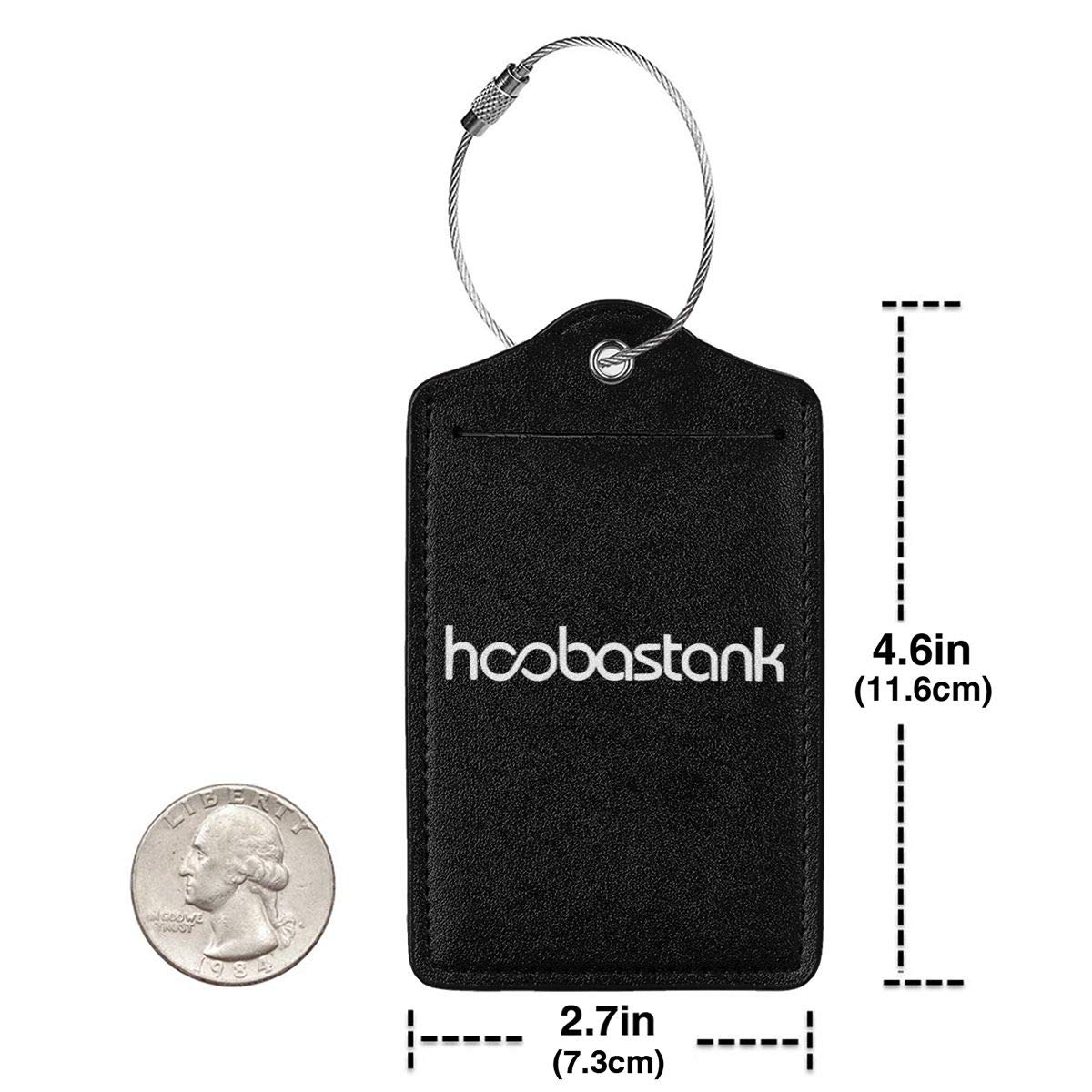 Hoobastank Logo Leather Luggage Tag Travel ID Label For Baggage Suitcase