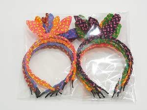 مجموعة أطواق شعر ملونة - 12 قطعة