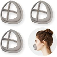 Silicone 3D Mask Bracket for Comfortable Mask Wearing by Creating More Space for Breathing Ideal Makeup Saver - 3Pack…