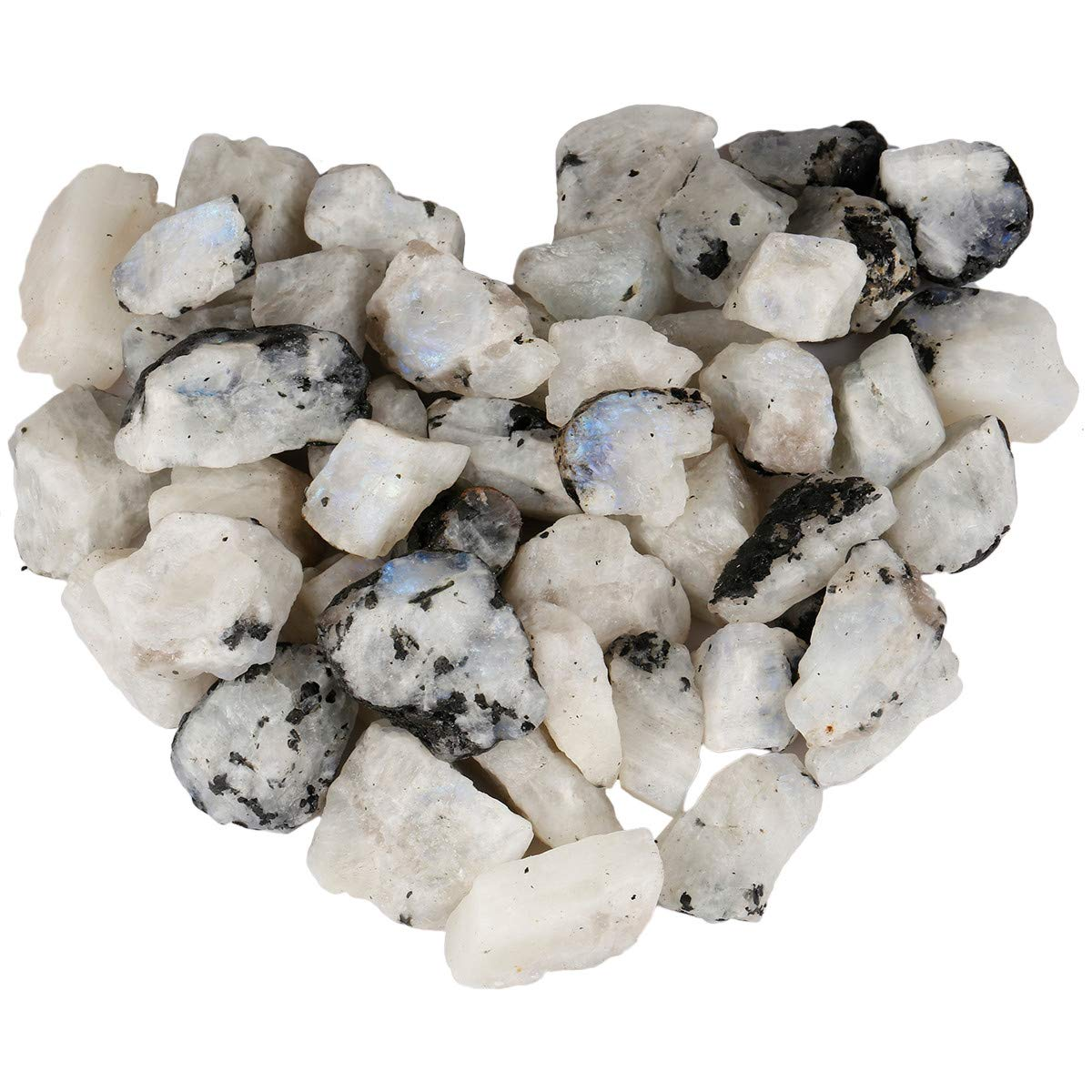mookaitedecor 1 lb Bulk Natural Moonstone Raw