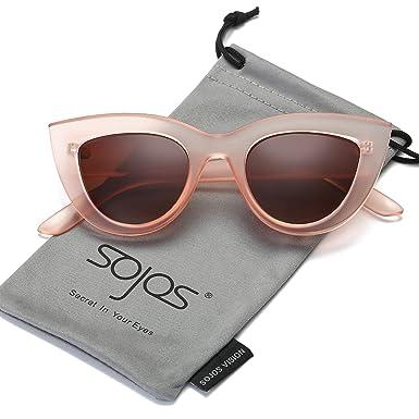 5d678c5509629 SOJOS Lunettes de Soleil de Œil de chat Fashion Chic Classique pour Femme  SJ2939 avec Rose