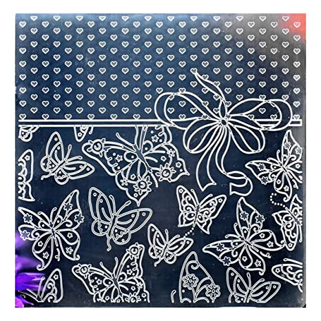 Kwan Crafts Leaves Plastic Embossing Folders for Card Making Scrapbooking and Other Paper Crafts 12.5x17.7cm