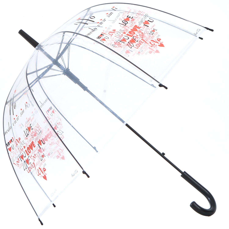 HAOCOO Love Clear Umbrella,Bubble Transparent Fashion Dome Auto Open Umbrella Windproof for Outdoor Weddings or Events(n)