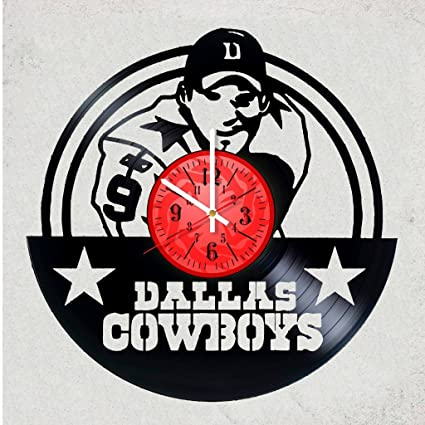 Home Decor USA Dallas Cowboys Vinyl Record Wall Clock