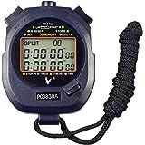 CaLeQi Digital Professional Handheld LCD Chronograph Sport Stoppuhr, three-row 30 Erinnerungen Bahnenzähler Running Timer.