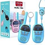 Walkie-Talkies para niños de 4 a 12 años de edad, GOCOM, radio portátil de dos vías, regalo para niños, juguetes de largo alc