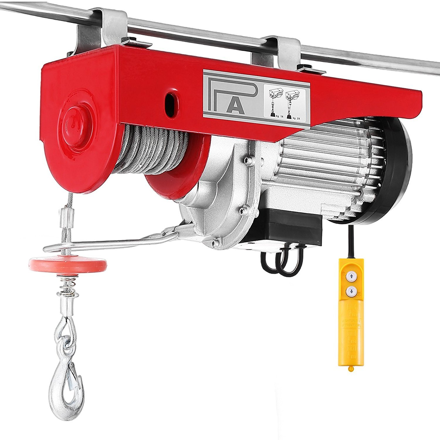 Ztopia Electric Hoist Lift 12M 680KG Overhead Electric Hoist 750LBS Electric Wire Hoist 220V Remote Control Garage Auto Shop Overhead Lift (680KG)