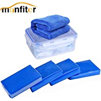 Manfiter Car Clay Bars Auto Detailing Kit, 4 Pack X 100g Magic Clay Bar with Washing and Adsorption Capacity for…