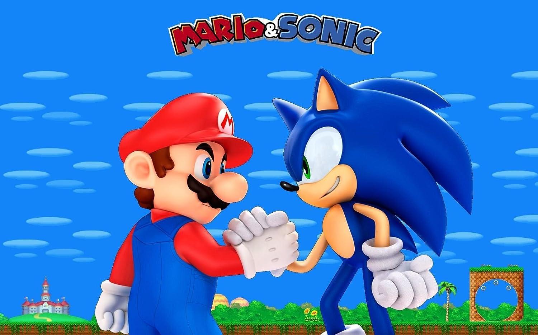 Enjoyable Amazon Com Sdore Super Mario Sonic Edible Birthday Cake Topper Funny Birthday Cards Online Kookostrdamsfinfo