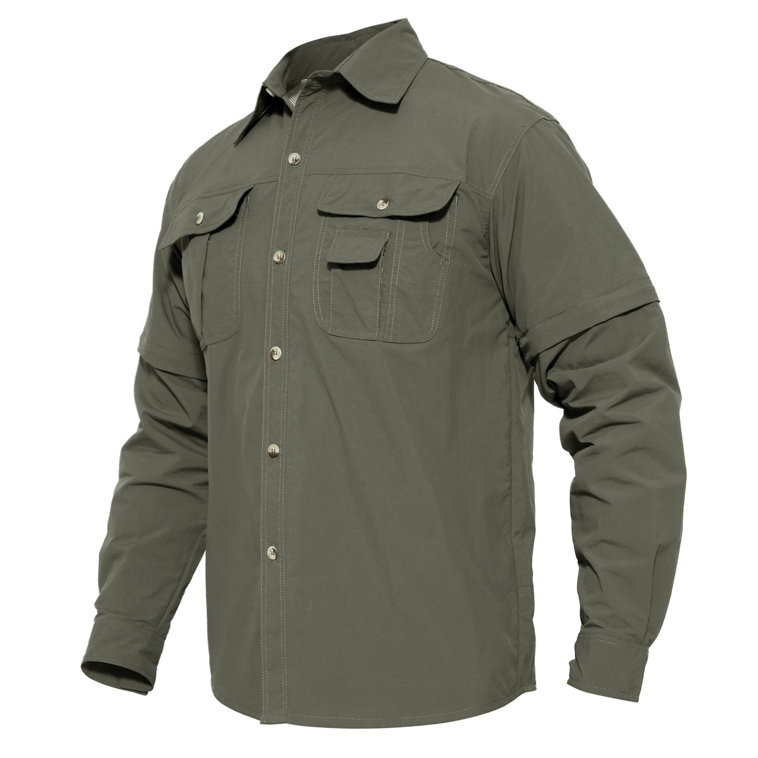 MAGCOMSEN Vented Shirt Outdoor Climbing Convertible Breathable Comfortable Short Sleeve Shirt