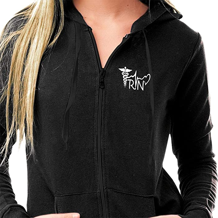 bd3de2e85d Women s Cotton Jersey French Terry Full Zip Fleece Athletic Hoodie  Lightweight Long Sleeve Soft Hooded Sweatshirt