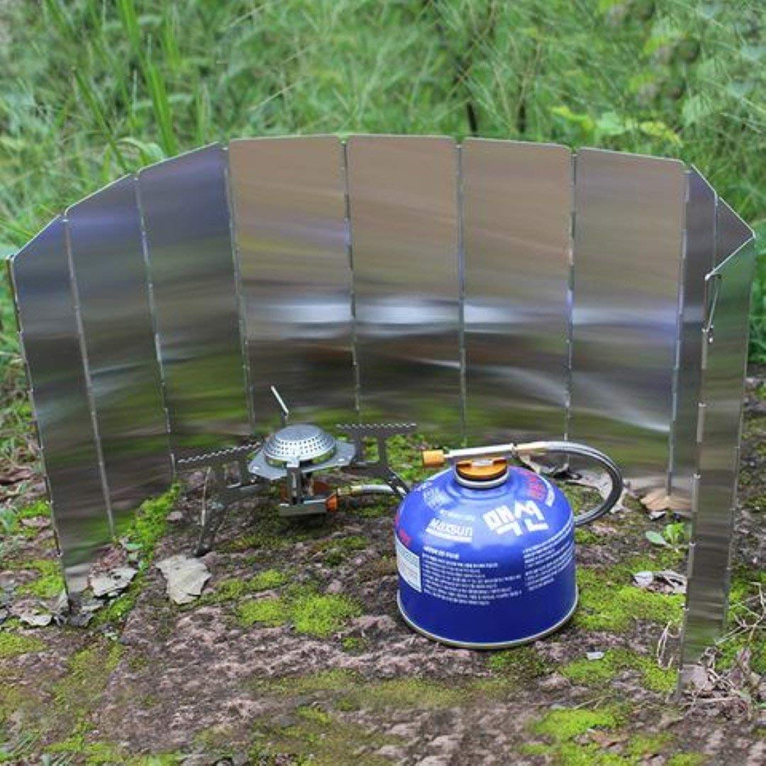 The Stock Pile 8/10/12/14/16 Plate Foldable Stove Windshield Outdoor Cooking Gas Stove
