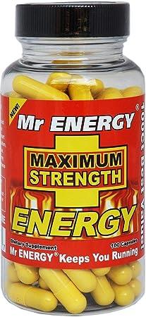 Mr. ENERGY Maximum Strength ENERGY Pills 100 Capsules – Best Energy Pills for Men and Women That Work
