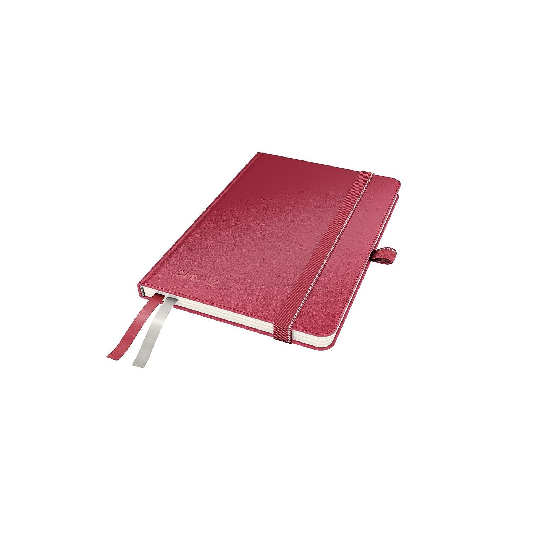 Leitz Taccuino A5 con copertina rigida, 80 fogli, A quadretti, 2 segnapagina, Carta avorio 100 gr/mq, Nero, Complete, 44770095 PennaStilo
