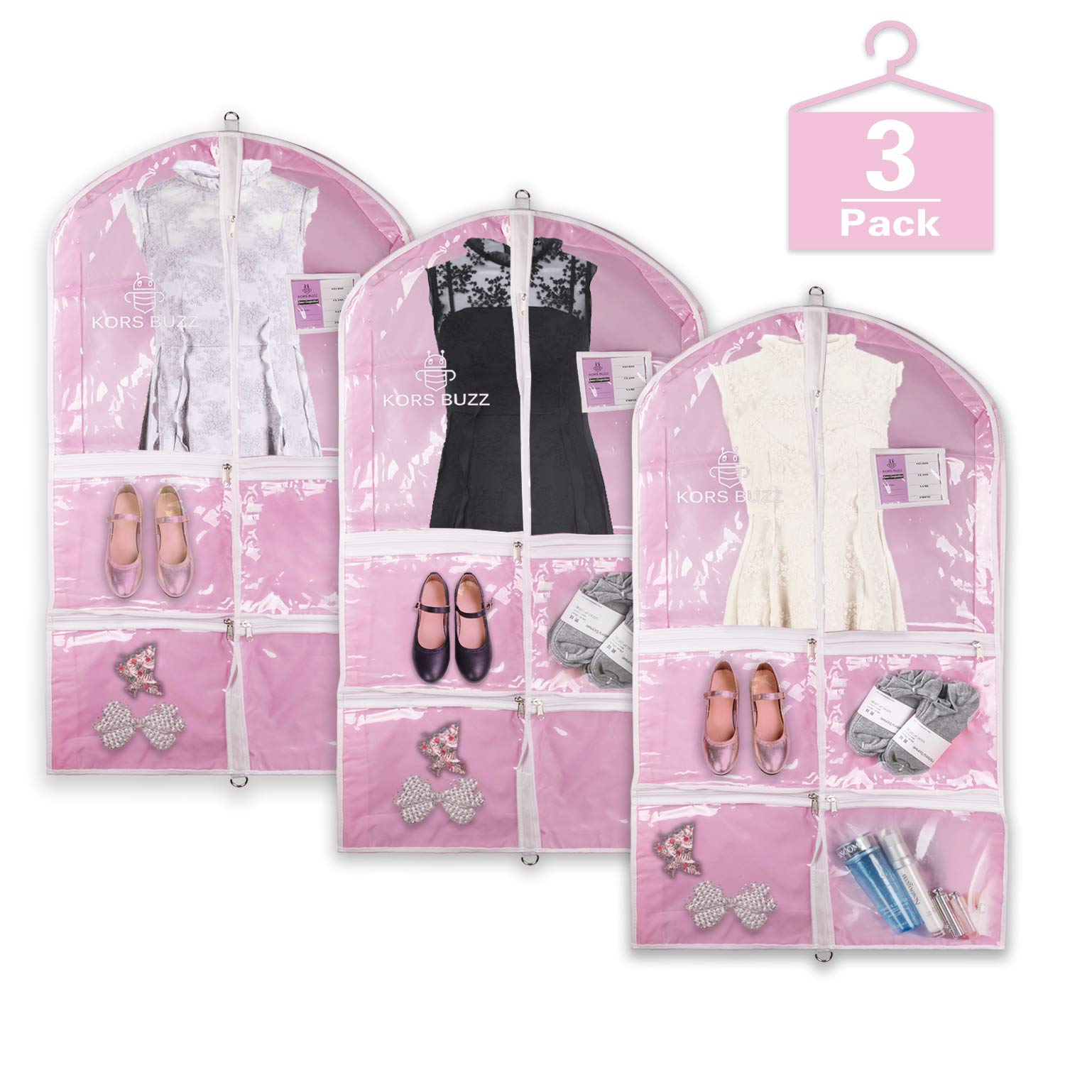 Personalized Girls Ladies Dance  Competitions Garment Dress Bag and Duffle Bag set Embroidered