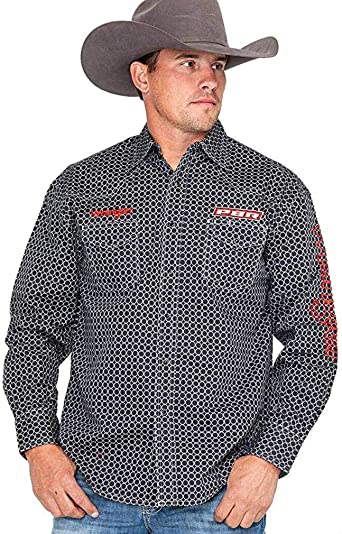 Wrangler PBR Logo Camisa de manga larga para hombre - Negro ...