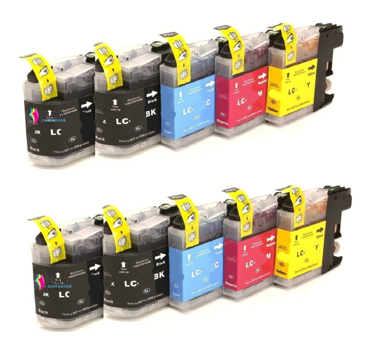 Bramacartuchos - 10 x Cartuchos compatibles para Brother Lc121 ...